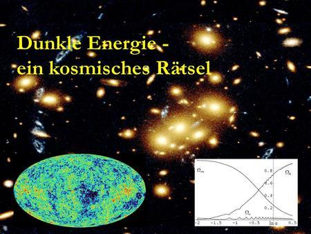 Dunkle Energie - ein kosmisches Rätsel. Quintessenz C.Wetterich A.Hebecker, M.Doran, M.Lilley, J.Schwindt, C.Müller, G.Schäfer, E.Thommes,R.Caldwell,