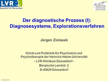 Der diagnostische Prozess (I): Diagnosesysteme, Explorationsverfahren