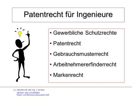 Patentrecht für Ingenieure