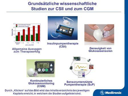 11/2007 Glukosesensor Sof-sensor Software CareLink Personal & PRO Infusionssets & Reservoire MiniLink Transmitter Insulinpumpen MiniMed Paradigm 522 und.